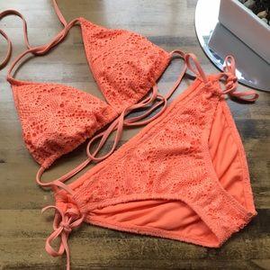 Gorgeous orange/peachy string bikini